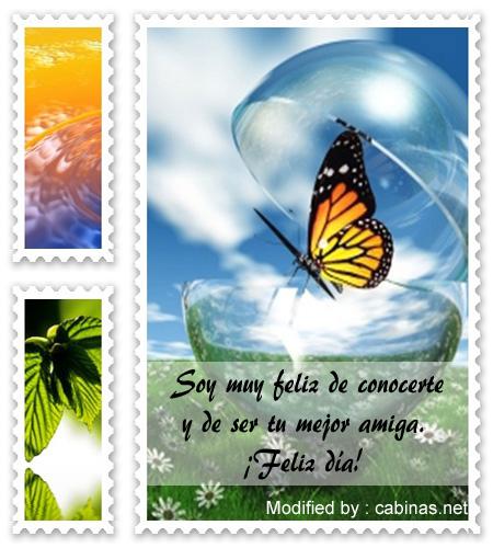 Bonitas Tarjetas Y Palabras Para Amigas Especiales Postales