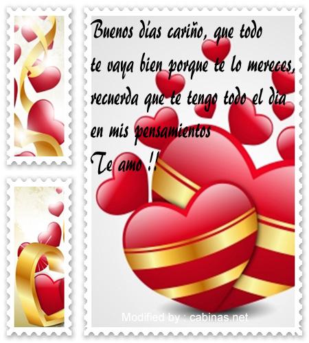 Bonitos Mensajes De Buenos Dias A Mi Novio Con Imagenes Frases