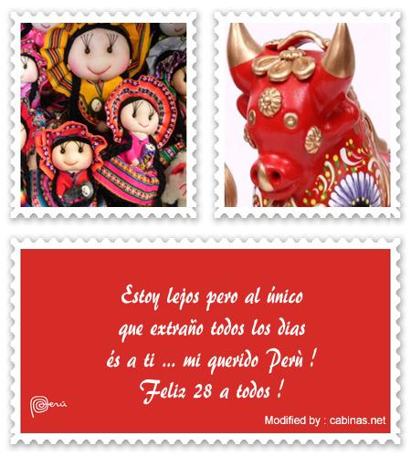 Bonitos Mensajes De Fiestas Patrias Perùfeliz 28 De Julio