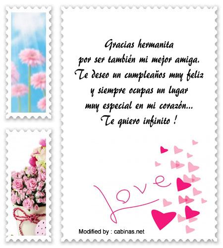 Saludos De Feliz Cumpleaños Hermanita Mensajes De Feliz